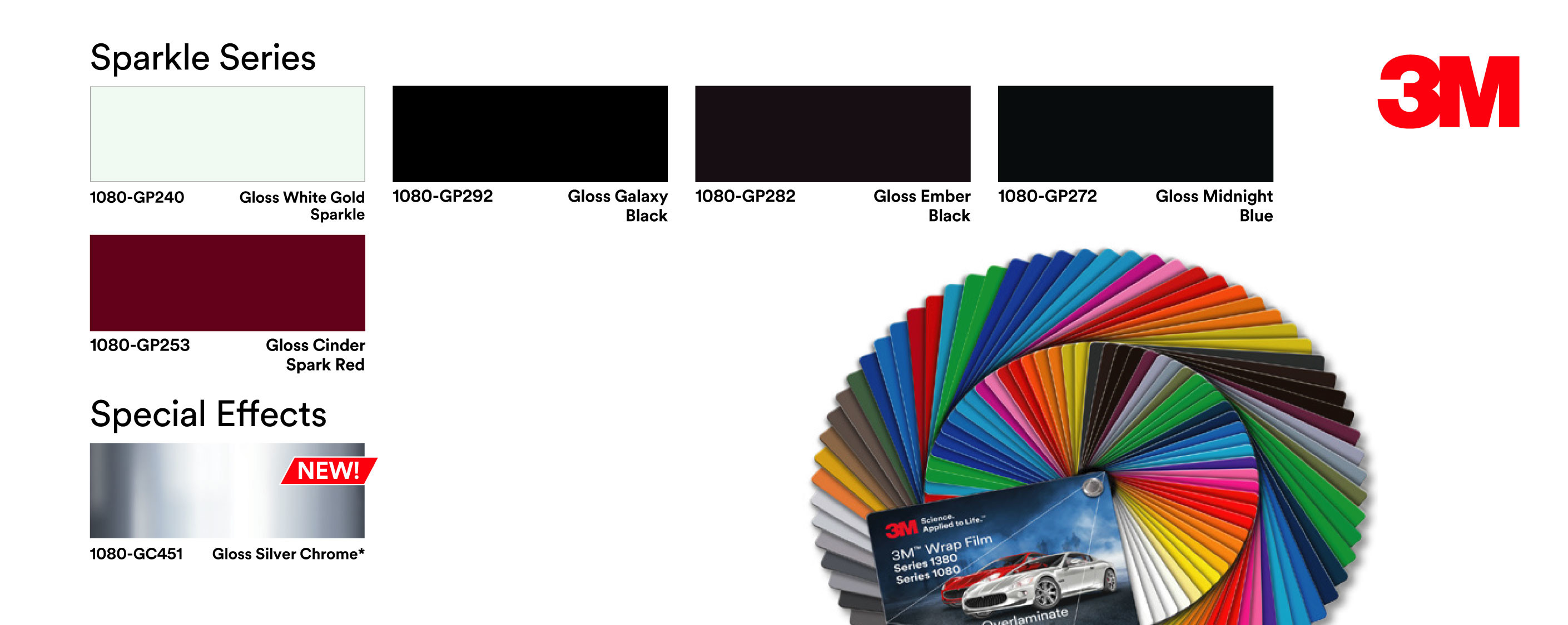 3m 1080 colour range uk