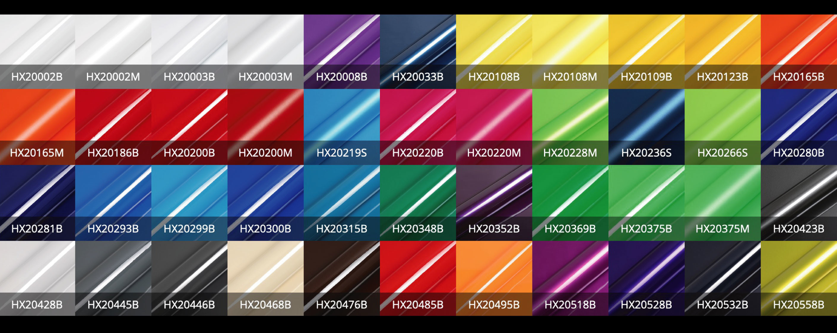 hexis vehicle wrap colour range 1