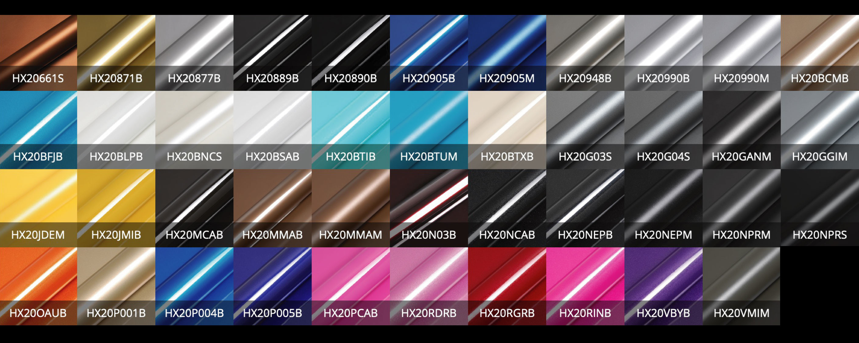 hexis vehicle wrap colour range 3